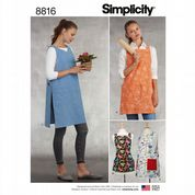 8816 Simplicity Pattern:  Aprons in All Sizes